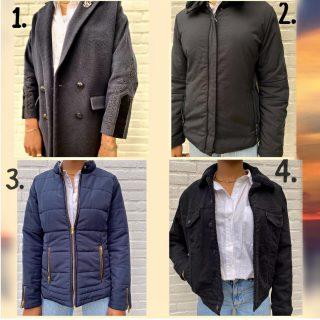Cloudy days are coming🍂  • Iedere dag krijgen we mooie jassen binnen! 1.  Thekoops mt 38 € 199 2.  Luhta mt m € 49 3. Dorothy mt l € 49 4. Levis mt m € 48
